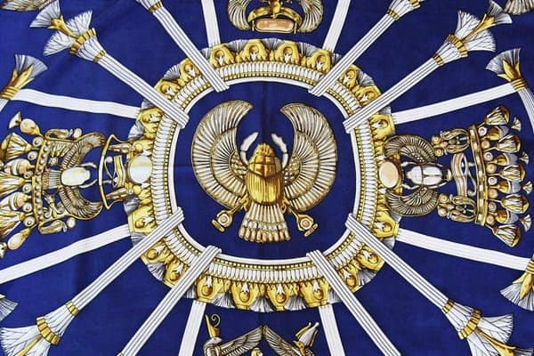 Hermes-blue-and-yellow-scarf