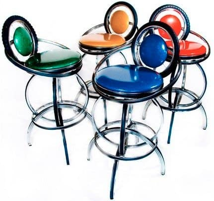 Upcycled bike stools