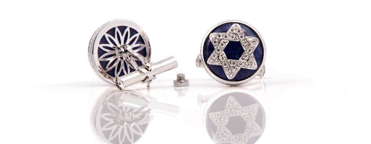 Emily H London Celestial Collection Tanzinite Cuff Links