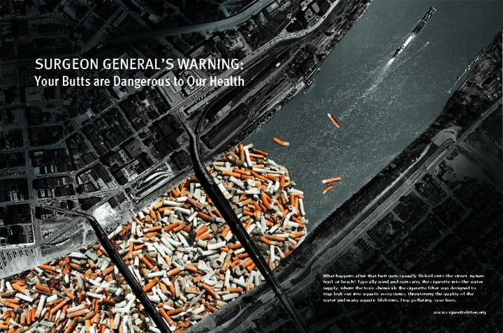 environmental impact of smoking The effects of smoking on the environment cause damage to the land, water, and to animals when smokers are finished smoking and their cigarette butts are left on.