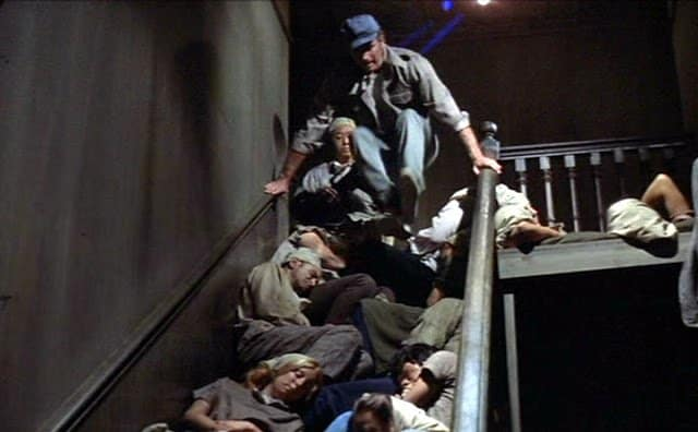 Soylent Green stair grab