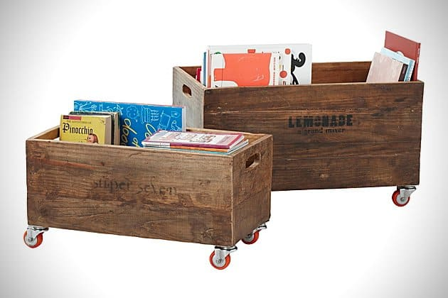 Wood-Pallet-Style-Rolling-Storage-Crates-4