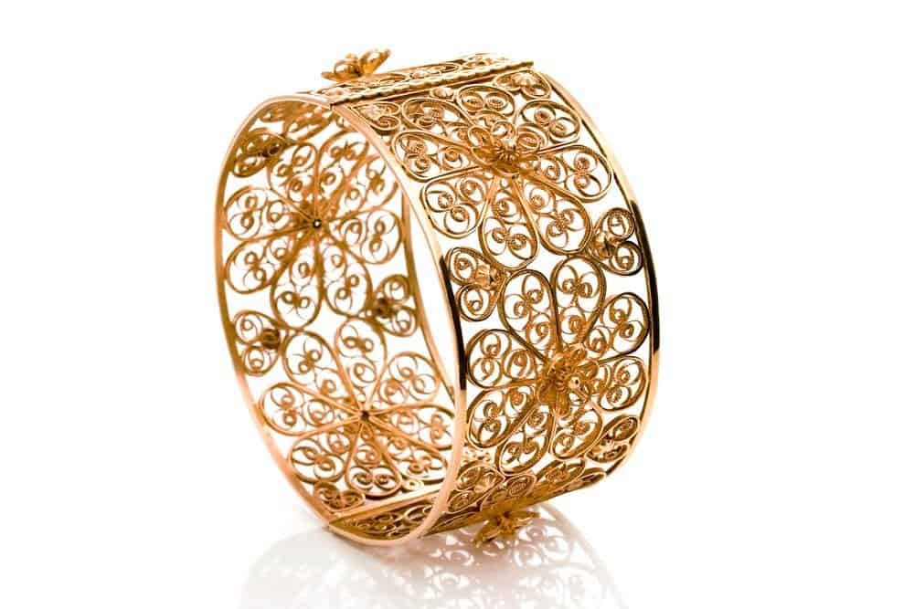 ALebrusan Filigree Rosette bangle rose gold exclusive