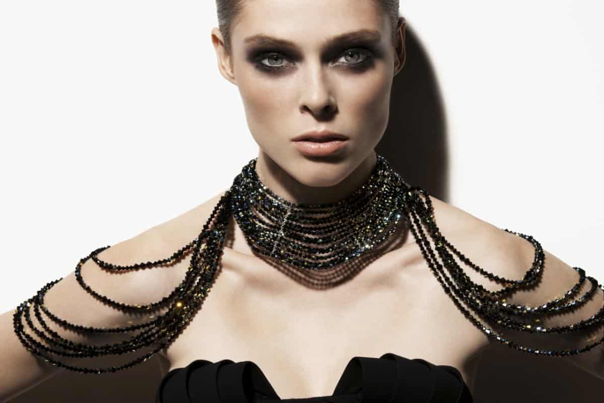 coco rocha for senhoa - coco wearing rachnay