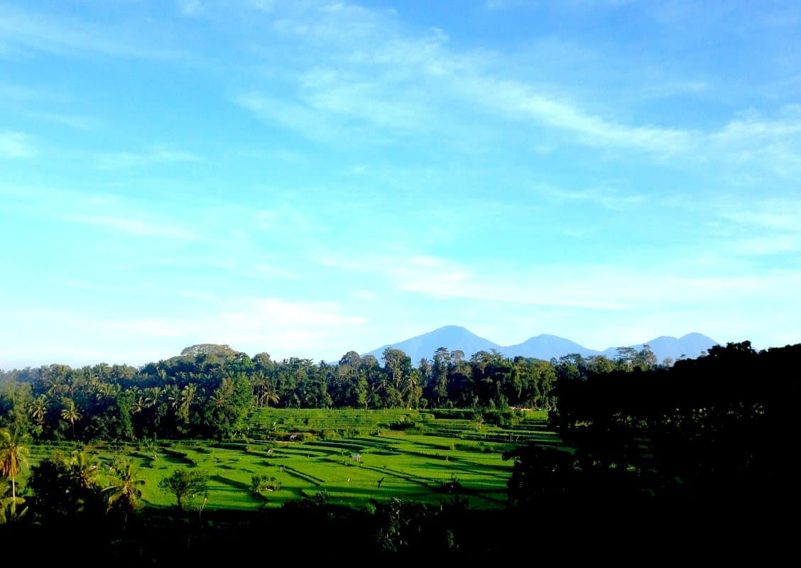 View of Volcanoes Bambu Indah