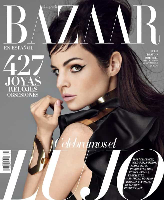Julia Restoin Roitfeld by Michael Flores (Harper's Bazaar Mexico May 2013)-1