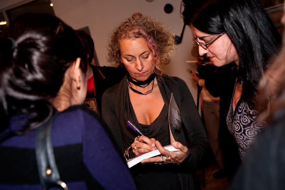 Sass-Brown-signing-her-book-Eco-Fashion