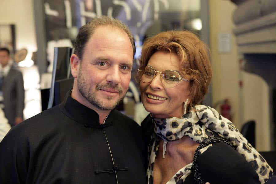Barrett Wissman and Sophia Loren