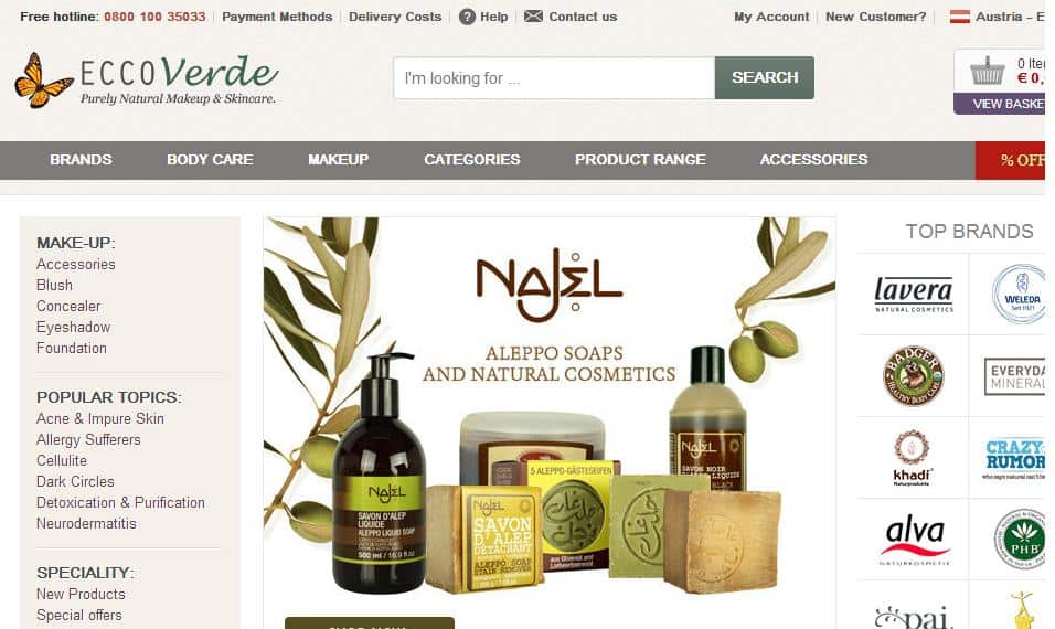 online organic beauty stores