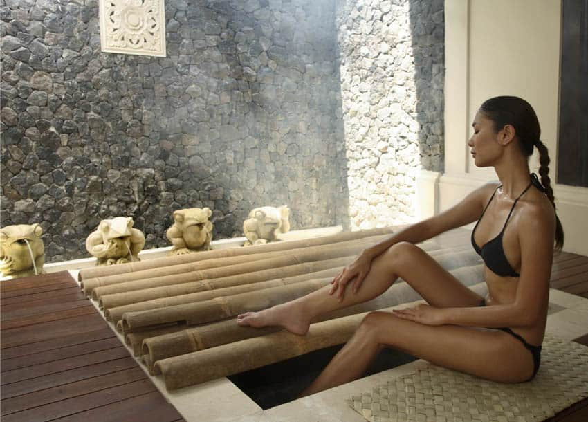 Steam Room at the Spa Village Resort in Tembok, Bali, Indonesia