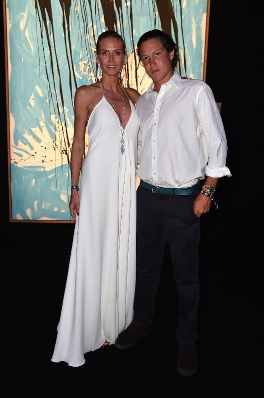 SAINT-TROPEZ, FRANCE - JULY 22: Heidi Klum and Vito Schnabel attend a cocktail during The Leonardo DiCaprio Foundation 2nd Annual Saint-Tropez Gala at Domaine Bertaud Belieu on July 22, 2015 in Saint-Tropez, France.  (Photo by Handout/Getty Images)