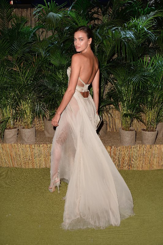 SAINT-TROPEZ, FRANCE - JULY 22: Irina Shayk attends a Dinner and Auction during The Leonardo DiCaprio Foundation 2nd Annual Saint-Tropez Gala at Domaine Bertaud Belieu on July 22, 2015 in Saint-Tropez, France.  (Photo by Handout/Getty Images)