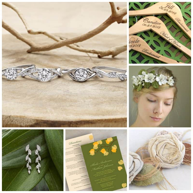 green-floral-Collage