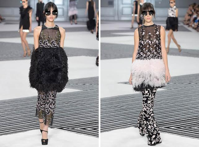 Unfortunately, animals are also killed for feathers, such as these used at Chanel, as well as fur