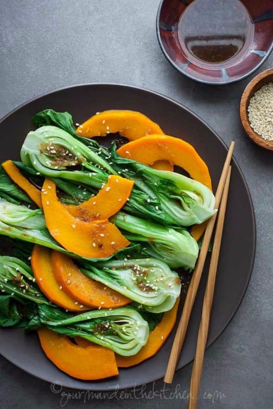 Steamed-Pumpkin-and-Bok-Choy