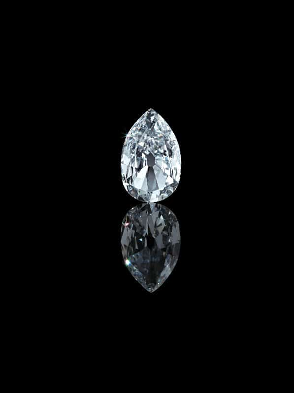 10. Arcot II diamond, 1760, modified 1959 and 2011, India