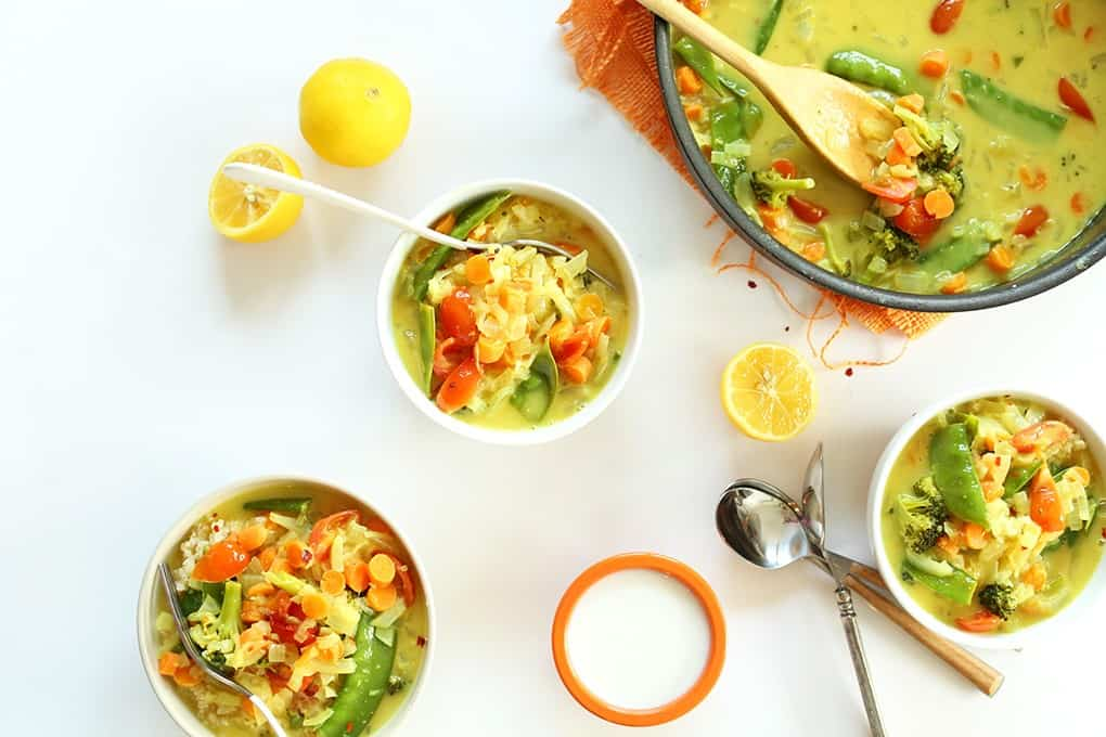 30 exotic vegan recipes from around the world eluxe magazine simple coconut curry over coconut quinoa forumfinder Images