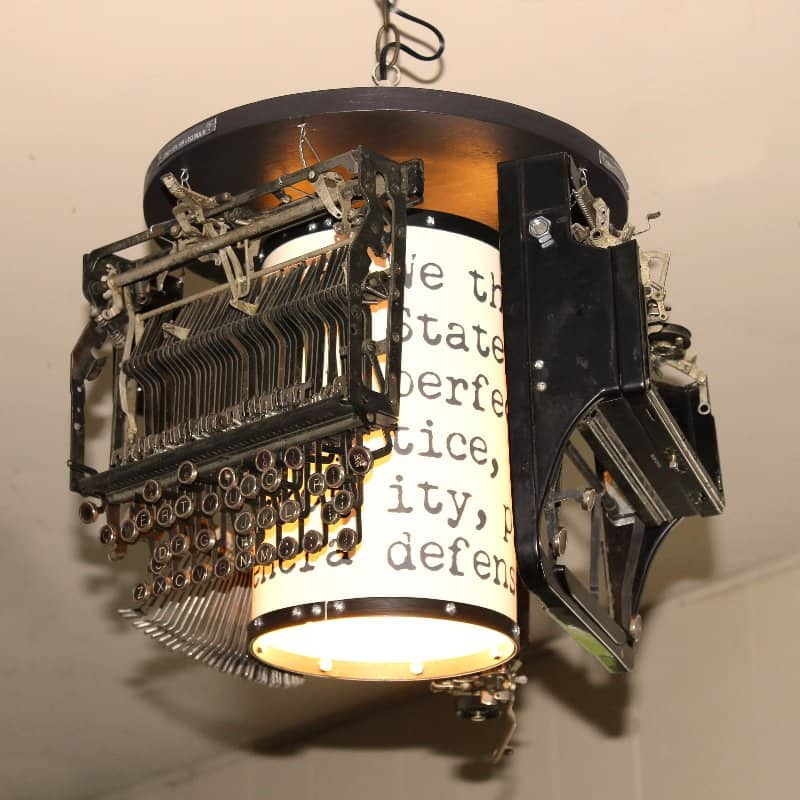 Typewriter Lamp