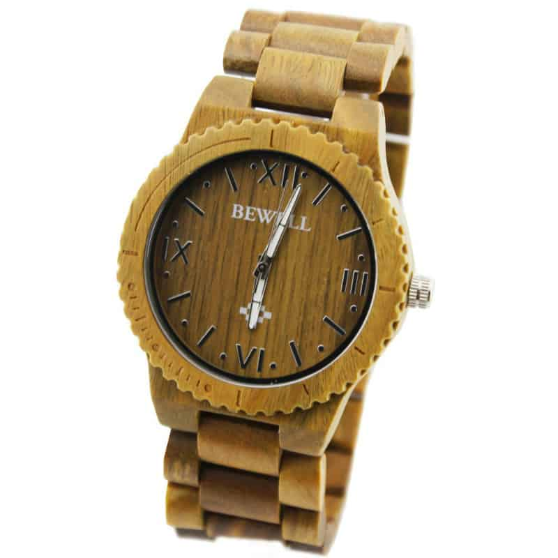 Bewell-Handmade-Mens-Solid-Wood-Watch-Made-with-Natural-Black-Sandalwood