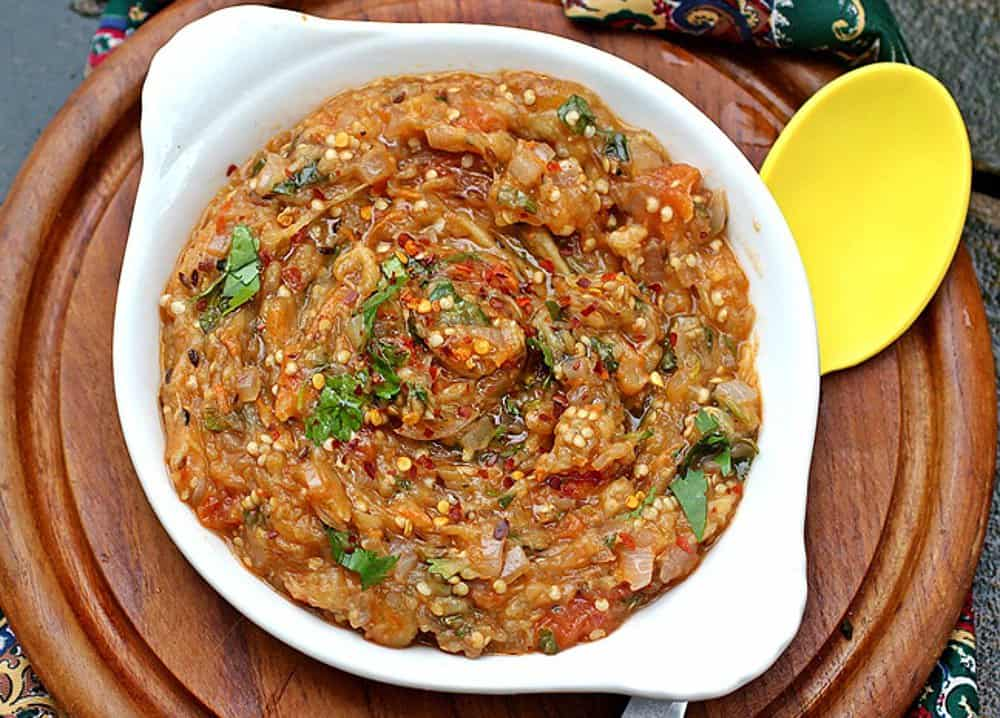 Indian-Baigan-Bharta-Char-Roasted-Eggplant-Dip-