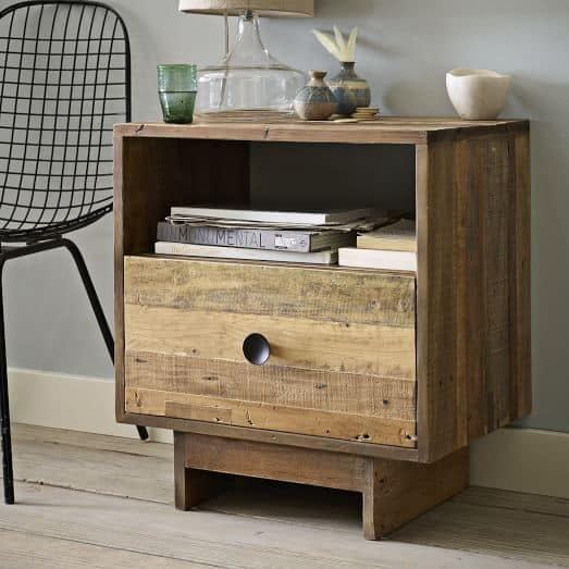Emmerson Reclaimed Wood Nightstand Natural C