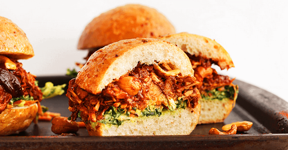 Vegan food for dudes 26 manly vegan recipes eluxe magazine how to make vegan bbq jackfruit sandwiches recipe forumfinder Image collections
