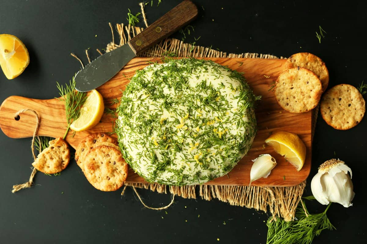 EASY-Creamy-VEGAN-CHEESE-Infused-with-lemon-zest-garlic-and-dill.-So-creamy-savory-and-cheesy-vegan-plantbased-glutenfree-cheese-recipe