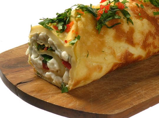 rolled-omelet-with-goat-cheese