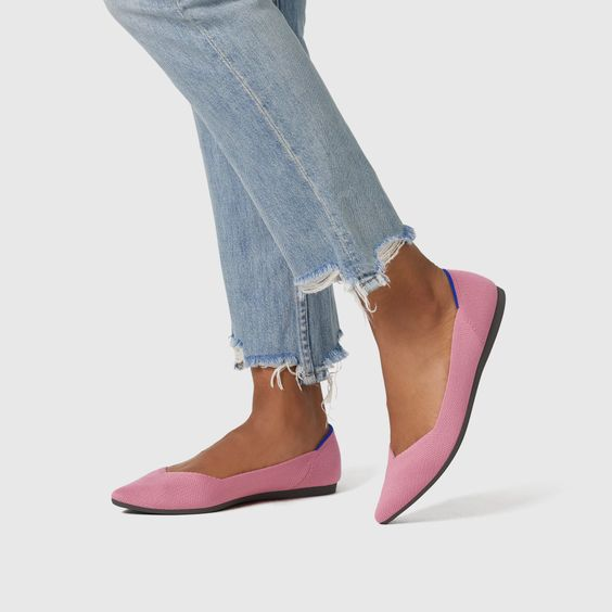 rothy's pink flats