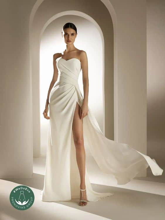 pronovias eco friendly bridal gown