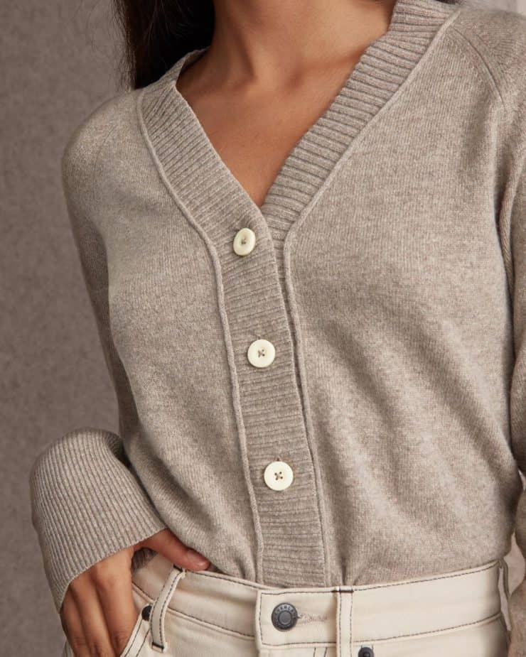 recycled cashmere knitwear