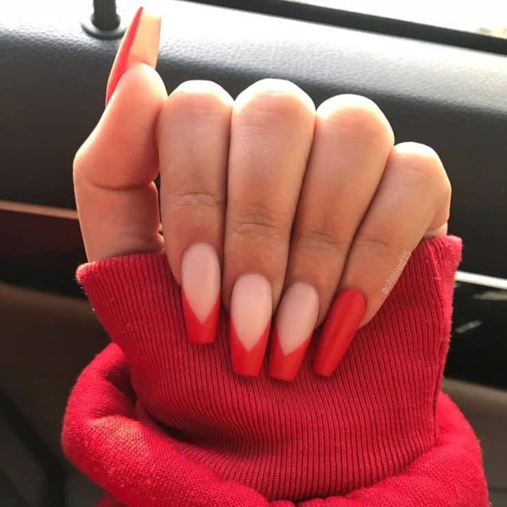 red manicure ideas